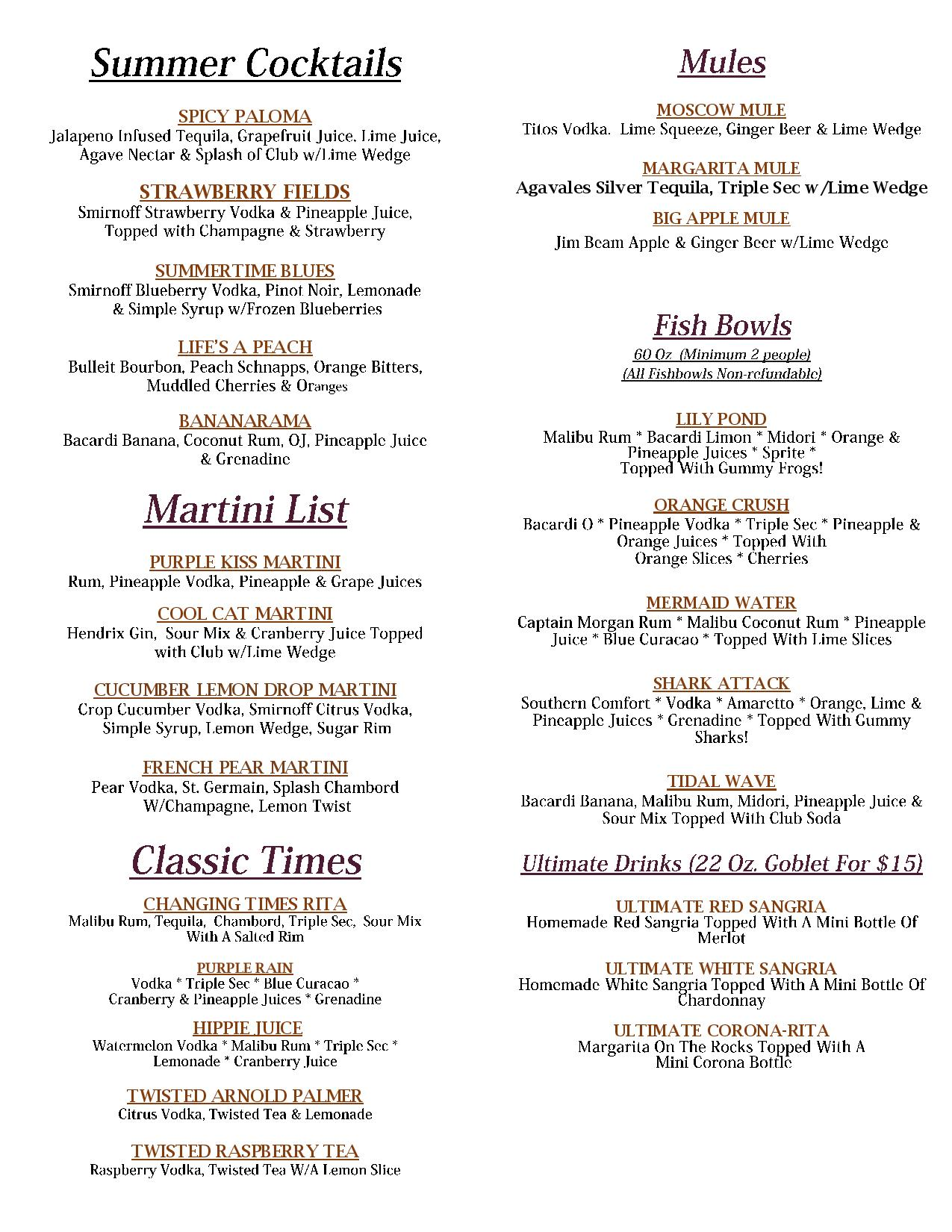 Summer Drink Menu June 2019 Fdale -